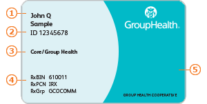 Group Health member ID card