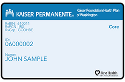 Kaiser Permanente Options member ID card