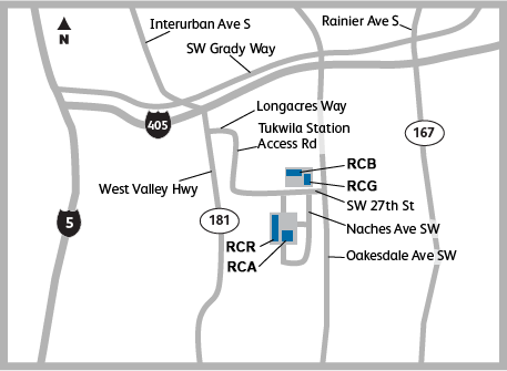 Map of the Kaiser Permanente Campus - Renton