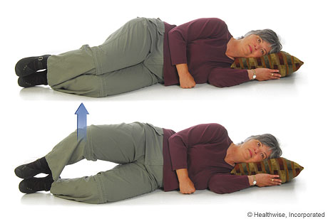 Picture of how to do the clamshell exercise